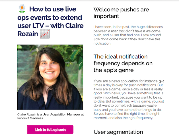 Claire rozain user acquisition